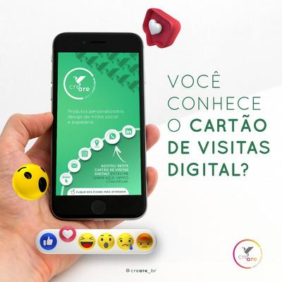 Cartão De Visitas Digital Interativo Personalizado