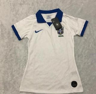 Camisa Feminina Seleção Brasileia Oficial Ll +frete Grátis