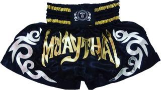 Short Calçao De Muay-thai, (t.f.wear) Black Extreme;