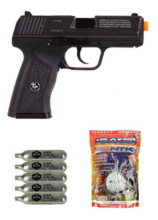 Pistola Airsoft Co2 Insanity Gbb Slide Metal 6mm + Bbs + Co2