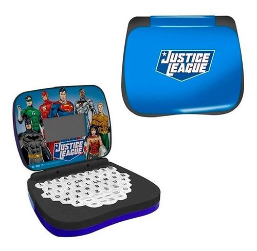 Laptop Infantil Para Crianças Liga Da Justiça Azul Candide