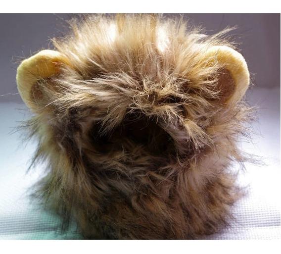 Fantasia Touca Juba Leão Pet Dog Cães Gatos Raças Pequenas