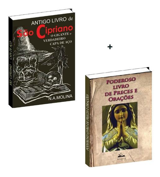 Antigo São Cipriano Gigante Capa Aço+poderoso Livro Orações