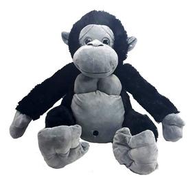 Gorila Pelúcia Grande 62 Cm Preto Macaco Antialérgico