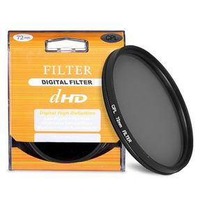 Filtro Digital Polarizador Cpl 72mm Cameras Filmadoras