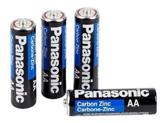 Kit 12 Pilhas Panasonic Comum Pequena Aa Pack C/4 Unid