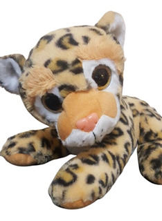 Leopardo De Peluche Extrasuave Ojos Brillantes