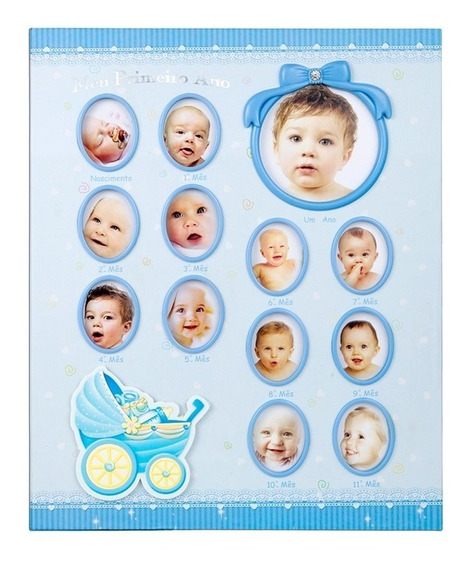 Álbum Fotográfico Bebe Azul Para 100 Fotos 15x21