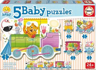 Baby Puzzles Tren Animales 18027 (6557)