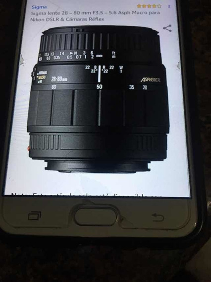Lente Sigma 28-80 Mm Para Camara Nikon