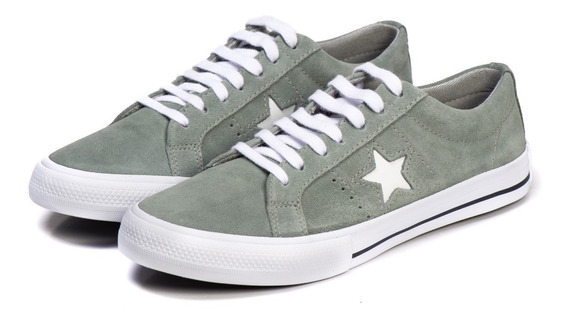 Converse - Tênis One Star Premium Suede Grafite Original