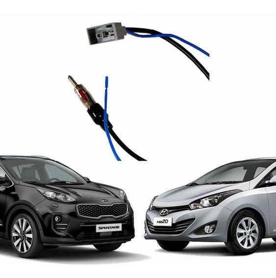 Conector Antena Para Hb20 I30 Cerato Sportage Chicote Plug