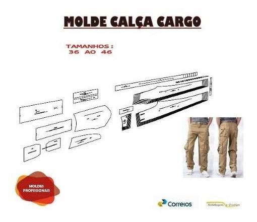 Molde Calça Cargo Do 36 Ao 46 Envio Correios