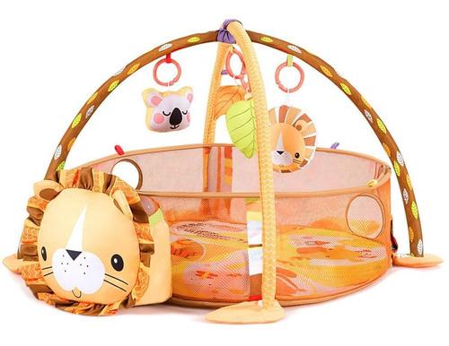Imagen 1 de 4 de Gimnasio Lujo Para Bebe Piscina Interactiva Leon 30 Pelotas