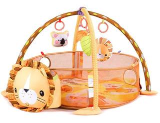 Gimnasio Lujo Para Bebe Piscina Interactiva Leon 30 Pelotas