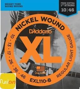 Encordoamento Daddario Guitarra 010-046 Exl110-b + Mi Extra