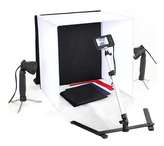Kit Mini Estudio Fotografico Portatil Led 60x60 60cm