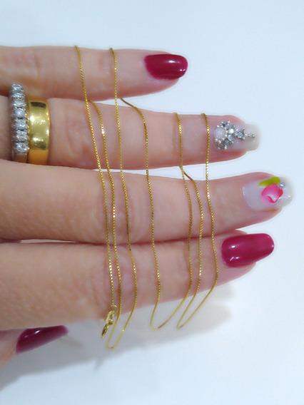 Colar, Corrente Veneziana Em Ouro Amarelo 18k, 61 Cm, Certif