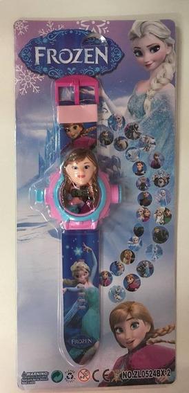 Relógio Infantil Projetor De Imagem Personagens - Frozen