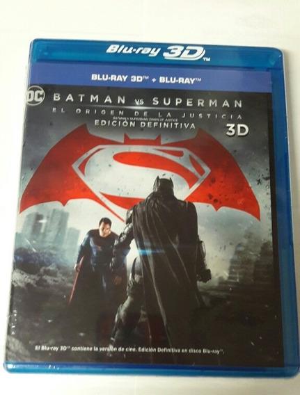 Batman Vs Superman Extendida Br 3d + Br + Dvd Slipcover