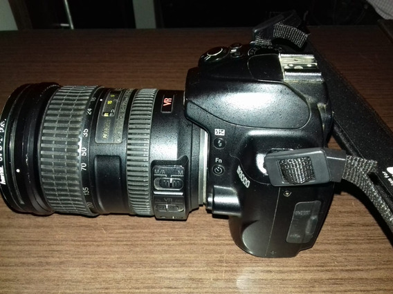 Camera Profissional Nikom Lente Nikon Af-s 18-200mm F/3.5-5