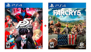 Juegos Ps4: Persona 5 + Far Cry 5 Pack A 110 Soles.