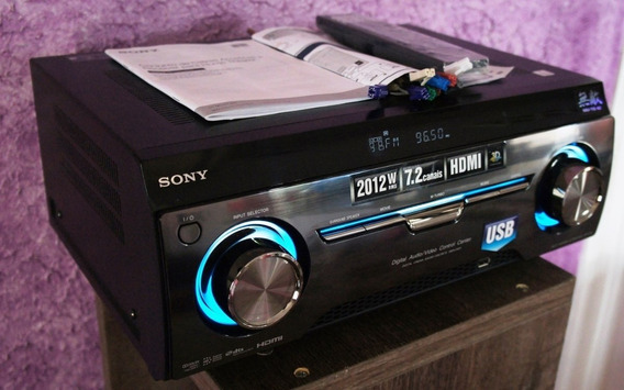 Receiver 3d Sony 7.2 Muteki 2012w, Usb, Arc Novissimo