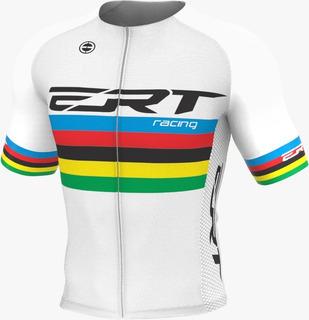 Camisa Ciclismo Ert Elite Campeão Mundial Branca Bike Slim
