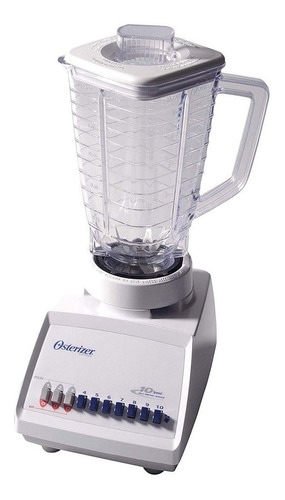 Licuadora Oster Osterizer 4107 con jarra de plástico 127V blanca