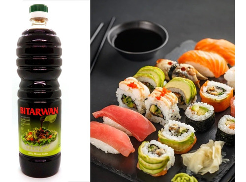 Imagen 1 de 3 de Salsa De Soja Bitarwan Light 1 Lt Ideal Sushi Exquisita!