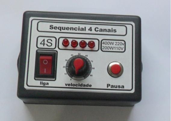 Sequencial De 4 Canais Para Lampada Halogênea Incandescente