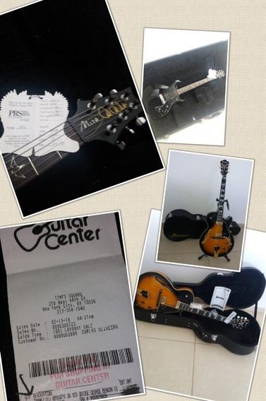 Guitarra Prs Santana Americana/ibanez Gb10 Se