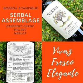Vino Serbal Assemblage 2017 Bodega Atamisque Tinto Oferta!
