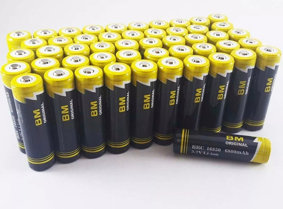 Kit 02 Bateria Recarregável 18650 Para Lanterna
