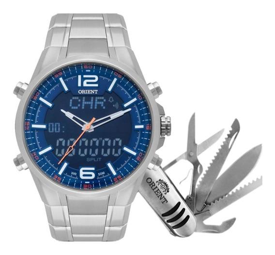 Relógio Orient Masculino Anadigi Mbssa048 D2sx Com Canivete