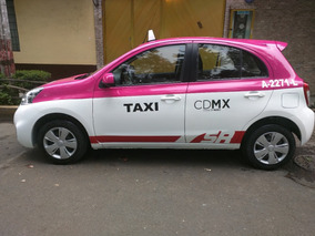 Taxi 2016 Nissan March , 197 Mil Pesos Placas Solas 60 Mil