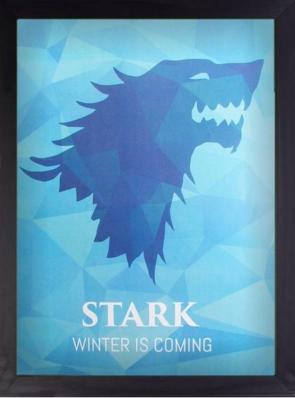 Quadro Game Of Thrones Stark A3 30x40 Decoração Arte Preto