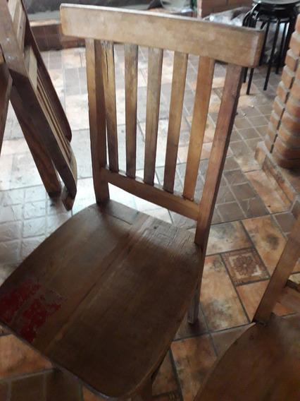 Cadeiras Madeira Demolição (conjunto 5)