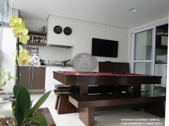Belissimo Apartamento Com 3 Dormitórios À Venda, 189 M² Por R$ 1.500.000,00 - Ponta Da Praia - Santos/sp - Ap1072