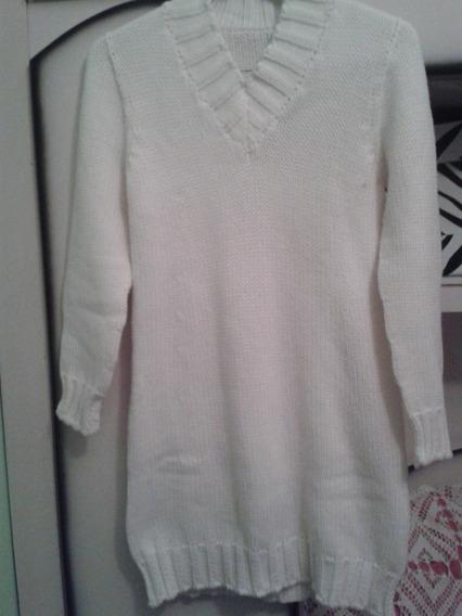 Blusão Em Lã Na Cor Branca Tamanho M
