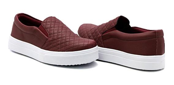 Slip On Dk Shoes Sola Baixa Matelassê Infantil E Adulto