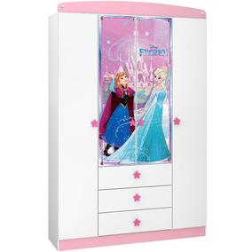 Guarda-roupa Infantil Frozen Disney Star 4 Ptas Pura Magia