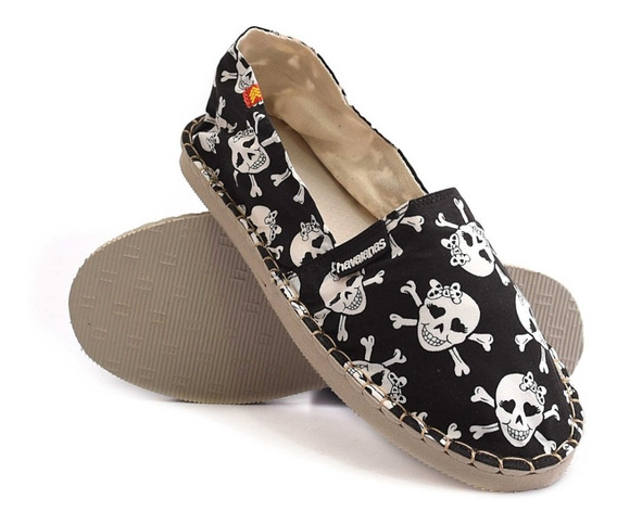Alpargatas Havaianas Origine Rock And Roll Skulls