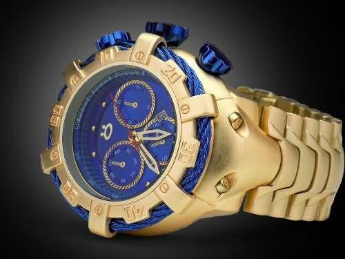 Relógio Orizom Masculino Pesado Aço Dourado