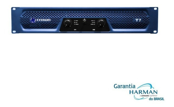 Amplificador Potência Crown T-7 - 2 X 950 Wrms (220v) T 7