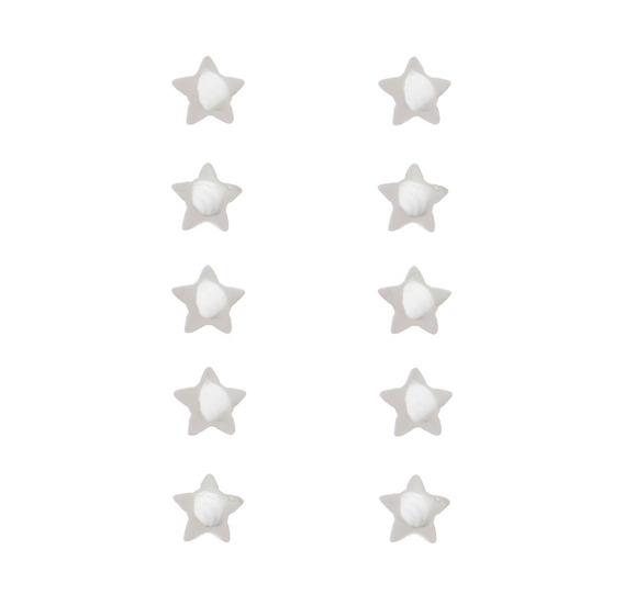 Brincos Atacado Prata 925 Estrela Para Segundo Furo Promoção