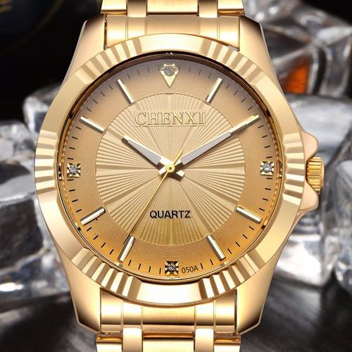 Relógio Masculino (unissex) Dourado - A Prova D'água