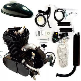 Kit Motor De Bicicleta Gasolina Preto 80cc O Mais Potente