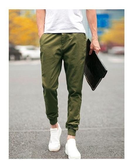 Pantalón Jogger Nike Slim Fit Pitillo Verde Militar Talla M
