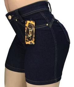 Kit 3 Short Jeans Feminino Cós Alto Meia Coxa - Liquidação